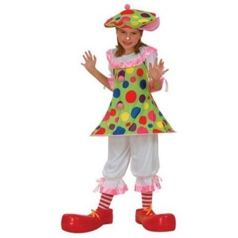 Girls Clowning About Clown Fancy Dress Costume (Age 8 - 10)